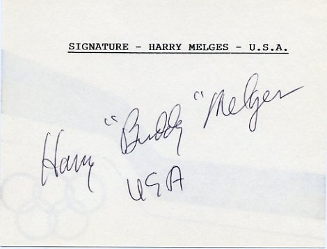 1972 Munich Yachting Gold HARRY MELGES Hand Signed Card
