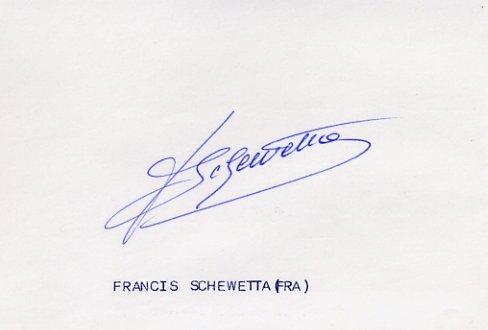 1948 London 4x400m Relay Silver  FRANCOIS SCHEWETTA  Autograph