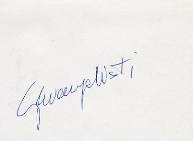 1984 Los Angeles Long Jump Bronze GIOVANNI EVANGELISTI  Autograph