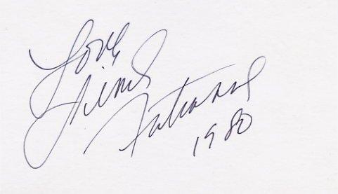 1980 Lake Placid Figure Skating Silver LINDA FRATIANNE Hand Signed Card 1980