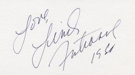 1980 Lake Placid Figure Skating Silver LINDA FRATIANNE Autographed Card 1980