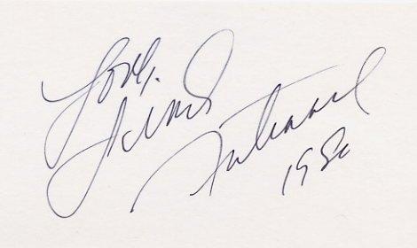 1980 Lake Placid Figure Skating Silver LINDA FRATIANNE Autographed Card from 1980
