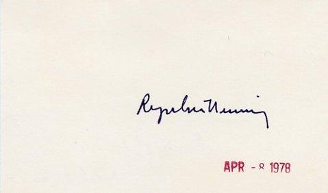 1977 Nobel Prize in Medicine ROGER GUILLEMIN Autographed Card from 1978