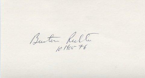 1976 Nobel Physics BURTON RICHTER  Hand Signed Card 1976