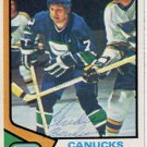 NHL  Canucks ANDRE BOUDRIAS Hand Signed Card from 1970s