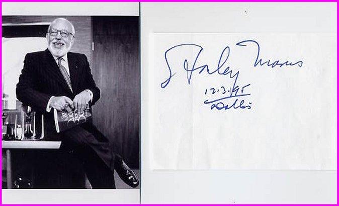 Neiman Marcus - STANLEY MARCUS Autograph 1995 & Pict