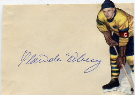 1952 Oslo Ice Hockey Bronze HANS OBERG  Autograph 1950s