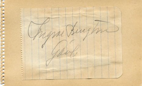1948 London Athletics 800m Olympian INGVAR BENGTSSON Autograph 1940s