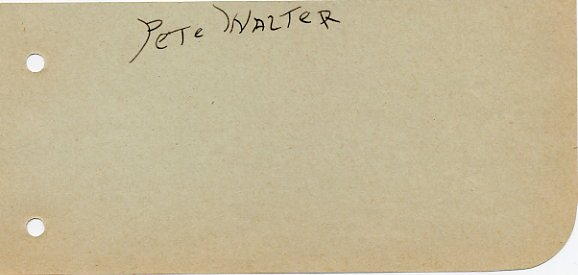 1928 Amsterdam 1500m Olympian PETE WALTER  Autograph 1931