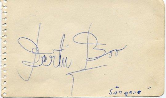 Swedish Singer & Actor  BERTIL BOO  Autograph 1950s
