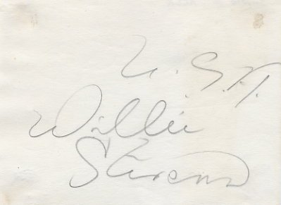 1957 World Top 110m Hurdler WILLIE STEVENS Autograph from 1950s