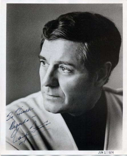 Welsh Author of Thrillers - CRAIG THOMAS - Hand Signed Photo 8x10 from 1974