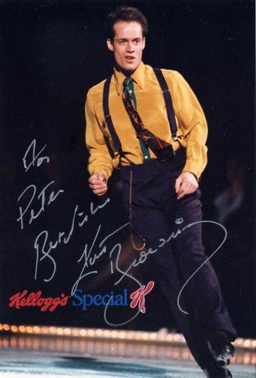 Four-Time Figure Skating World Champion KURT BROWNING Hand Signed Photo