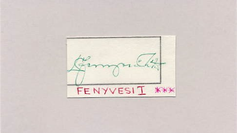 Hungary - Football 1958-62-66 FIFA World Cup MATE FENYVESI Autograph 1963