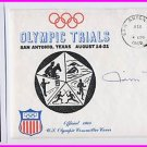 1964 Tokyo Modern Pentathlon Silver JAMES MOORE Hand Signed Cover 1968 & Pict