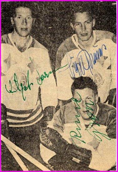 1950s Swedish Ice Hockey World Champions VILGOT LARSSON-SIGGE BROMS (+1) Autographs 1958