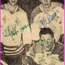 1950s Swedish Ice Hockey World Champions VILGOT LARSSON-SIGGE BROMS (+1) Autographs 1958