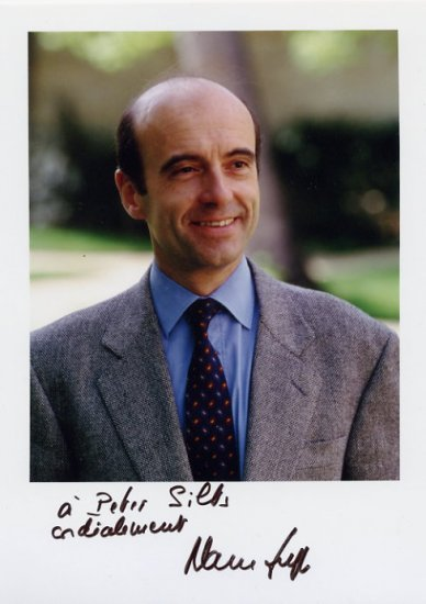 1995-97 Prime Minister of France ALAIN JUPPE Hand Signed Photo 1995