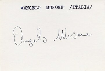 1984 Los Angeles Boxing Bronze ANGELO MUSONE Autograph 1984