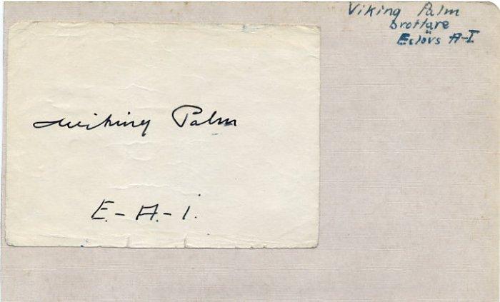 1952 Helsinki Wrestling Gold VIKING PALM & Ice Hockey Olympian OVE MALMBERG  Autographs 1950s