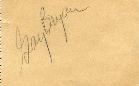 1949 US Long Jump Champion GAY BRYAN  Autograph 1950s