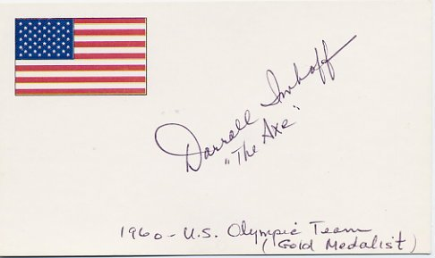 1960 Rome Basketball Gold DARRALL IMHOFF Autographed Card