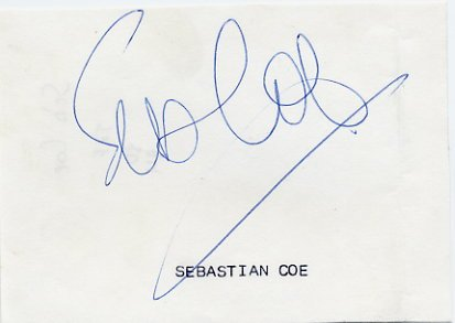 1980 Moscow & 1984 Los Angeles 1500m Gold SEB COE Autograph 1980s
