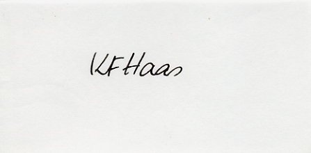 1952 Helsinki & 1956 Melbourne T&F 400m Medalist KARL FRIEDRICH HAAS Autograph