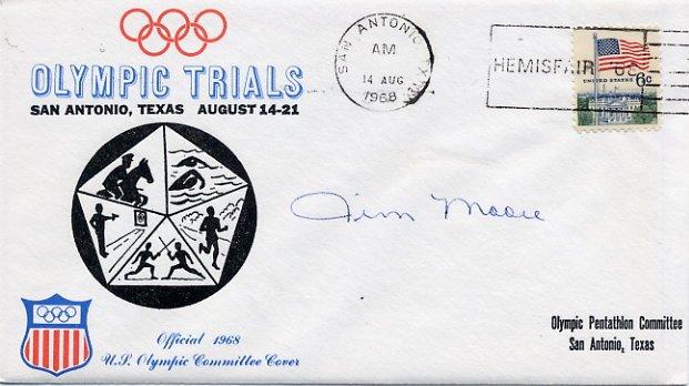 1964 Tokyo Modern Pentathlon Silver JAMES MOORE Hand Signed Cover 1968
