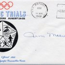 1964 Tokyo Modern Pentathlon Silver JAMES MOORE Hand Signed Cover 1968