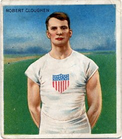 1908 London 200m Silver ROBERT CLOUGHEN Hassan Track Card 1910
