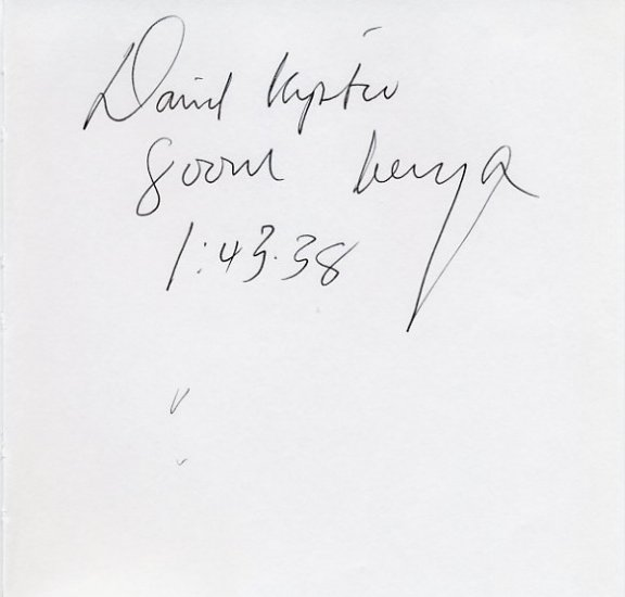 1996 Atlanta  800m Olympian DAVID KIPTOO Autograph