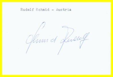 1976 Innsbruck  Luge Bronze RUDOLF SCHMID Autograph 1980