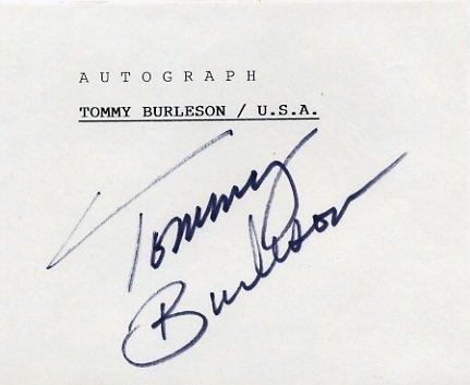 1972 Munich Basketball Silver TOMMY BURLESON Autograph