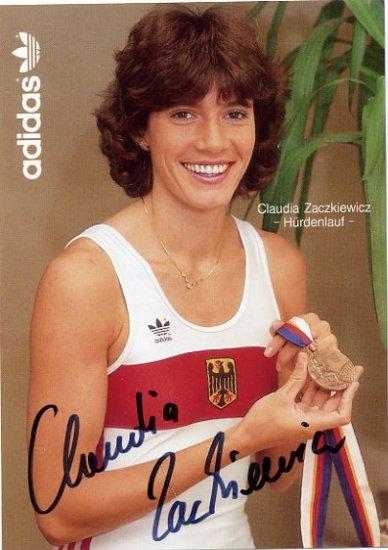 1988 Seoul 100m Hurdles Bronze CLAUDIA ZACZKIEWICZ  Hand Signed Photo