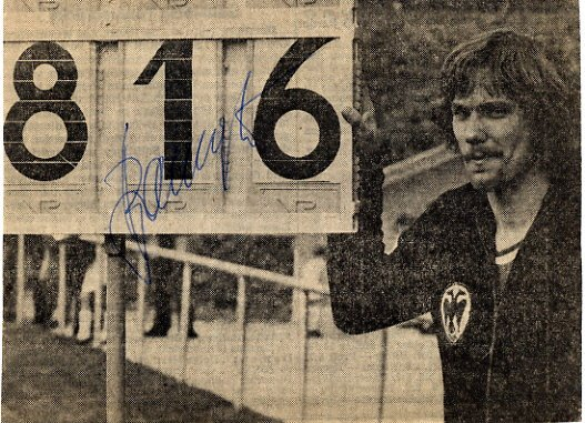 1972 Munich Long Jump Silver HANS BAUMGARTNER Autographed Pict