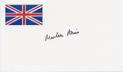 English Novelist MARTIN AMIS Autographed Card 1995