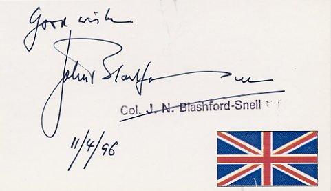 British Explorer JOHN BLASHFORD SNELL Autographed Card 1996