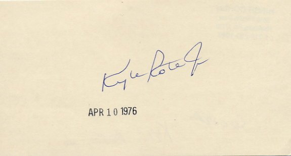 American Soccer Star KYLE ROTE, Jr Autographed Card 1976