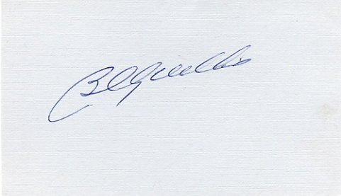 Baseball HOF Chicago Cubs BILLY WILLIAMS Hand Signed Card 1970s