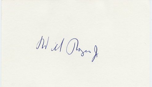 American Politician & Actor WILL ROGERS, Jr. Autographed Card 1979