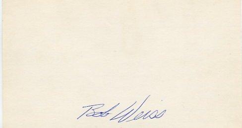 1967 NBA Champion w/76ers & Coach BOB WEISS Hand Signed Card 1970s