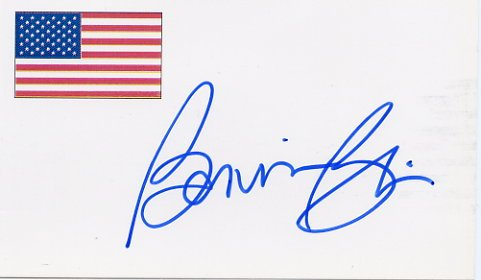 Five-time Speed Skating Gold Medalist BONNIE BLAIR Autographed Card