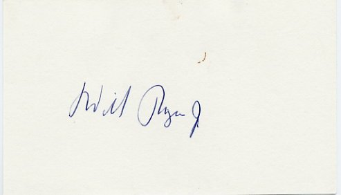 American Actor & Politician WILL ROGERS, Jr. Autographed Card 1979