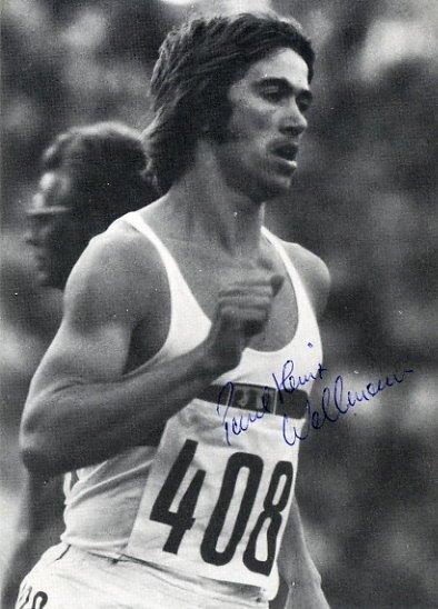 1976 Montreal 1500m Bronze PAUL HEINZ WELLMANN Hand Signed Photo 4x6
