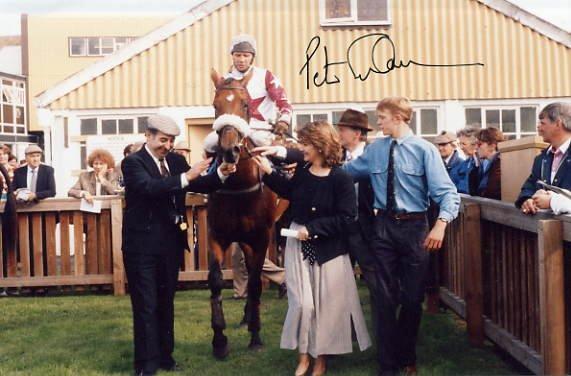 Horse Racing - Champion Jockey PETER SCUDAMORE Hand Signed Photo 4x6
