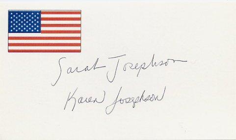 1992 Synchronized Swimming Gold SARAH & KAREN JOSEPHSON Autographed Card