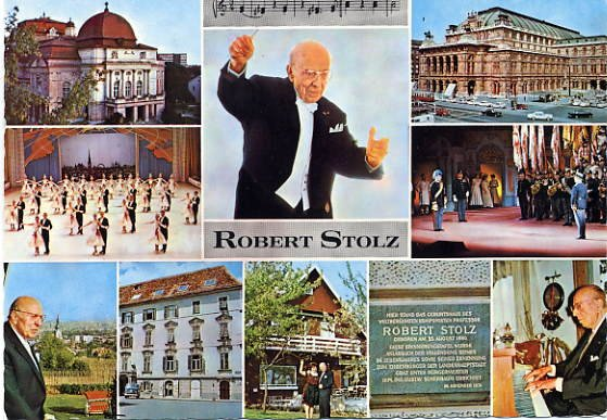 Austrian Composer & Conductor ROBERT STOLZ Hand Signed Postcard from 1972