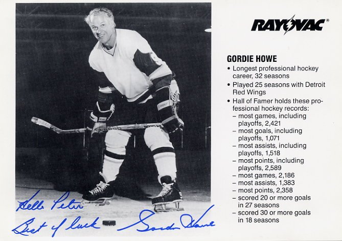 Legendary Ice Hockey Player GORDIE HOWE Hand Signed Photo 5x7