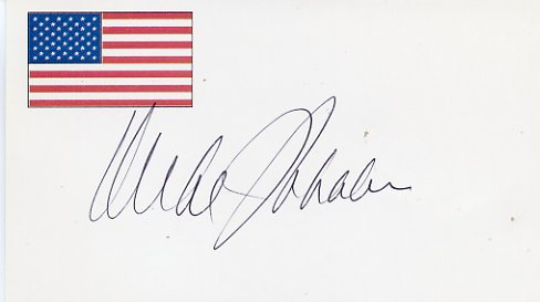 1988 Presidential Candidate MICHAEL DUKAKIS Autographed Card
